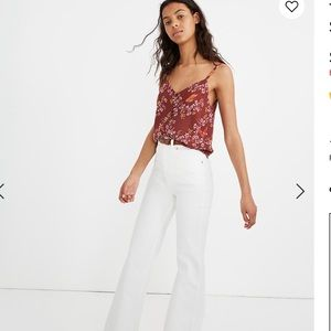 Madewell Button Down Cami Top Flowers